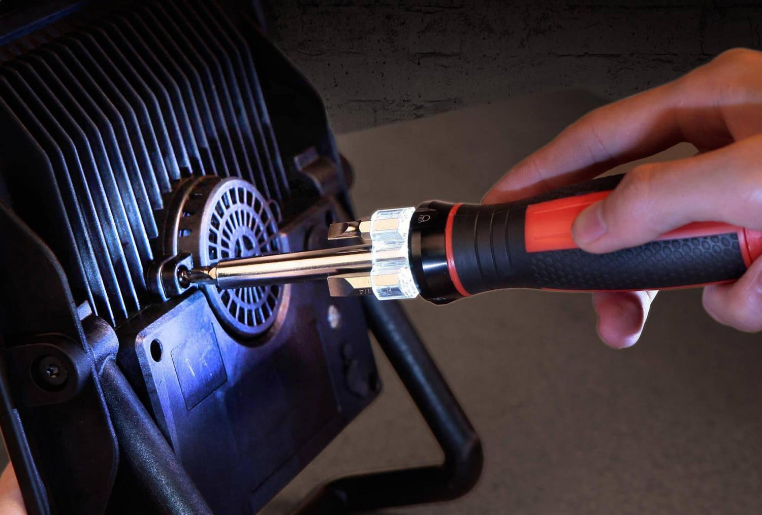 Hyper Tough 4-in-1 LED Lighted Screwdriver with Batteries